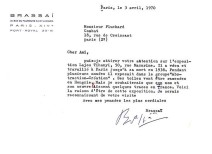 Lot 199 BRASSAI - Typed letter signed on personalised stationery
