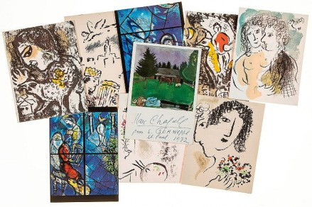 Lot 200 CHAGALL, MARC - Collection of postcards from the Chagalls
