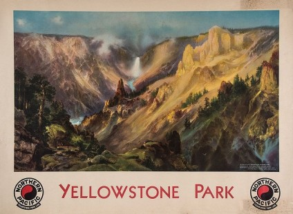 Lot 35 MORAN, Thomas (1837-1926) - YELLOWSTONE PARK, Northern Pacific
